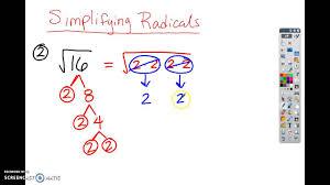 simplifying radicals worksheet examples youtube