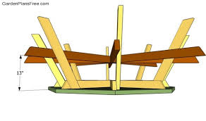 Picnic Table Frame Octagon Picnic Table Plans Free Free Garden Plans How To Build