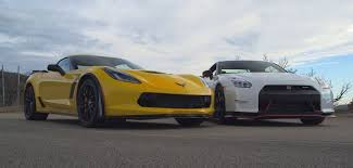 nissan corvette clash of corvette z06 vs nissan gtr nismo gt speed