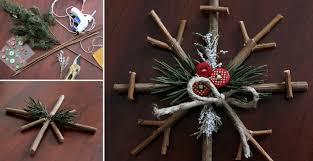 how to make rustic snowflake diy crafts handimania