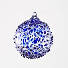blue glass ornament boyce glass