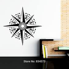 popular nautical bedroom decor wall stickers buy cheap nautical mad world nautical compass rose sea ocean wall art stickers art home decoration wall decal
