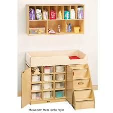 Changing Table For Daycare Jonti Craft Changer W Stairs And Wall Mount Organizer