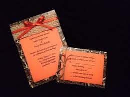 camo wedding invitations camo wedding invitations mossy oak mossy oak camo and orange