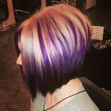 hairstyles for short highlighted blond hair blonde bob with purple highlights google search hair dye