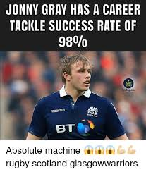 Bt Meme - jonny gray has a career tackle success rate of 98 rugby memes