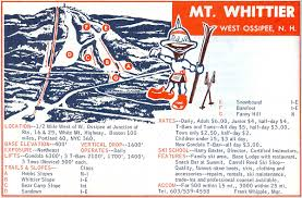 Portland Trails Map by 1967 68 Mt Whittier Trail Map New England Ski Map Database