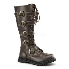 boots uk leather costume mens leather knee length steunk boots thevikingstore