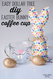Dollar Tree Easter Decorations 2016 by Easy Diy Dollar Tree Easter Bunny Coffee Cup Vintage Romance Style