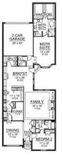 House Plans For Long Narrow Lots Extraordinary Design 2 Story House Plans For Narrow Lots 3 4