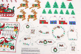 vip cranston christmas appliques 2 cotton fabric panels for sewing