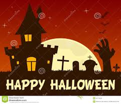 halloween haunted house and cemetery stock vector image 44776530