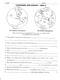 continents and oceans quiz worksheet free worksheets library