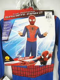 kids nwt marvel the amazing spider man 2 jumpsuit mask halloween