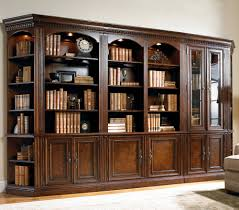 Wood Bookshelves by Furniture Traditional Family Room Design With Brown Wood