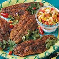 Catfish Dinner Ideas Catfish With Shrimp Salsa Recipe Taste Of Home