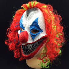 halloween mask clown new halloween mask creepy clown head costume party fancy