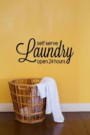 Laundry Room Hours - self serve laundry open 24 hours vinyl decal laundry wall decal