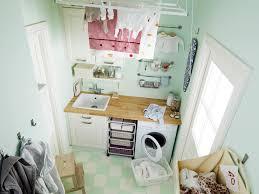 Impressive Bathroom With Laundry Room Decoration Using Turquoise
