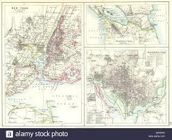 Washington New York Map by Us Cities Nicaragua Canal New York U0026 Washington Plans Johnston