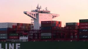 ultra large container ship cscl atlantic ocean maiden voyage into