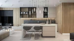 Kitchen Island Contemporary Kitchen Design Laminate Wooden Floor White Contemporary Polygon