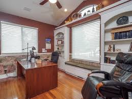 traditional home office with built in bookshelf u0026 interior