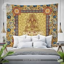 sacred goddess lakshmi tapestry sacred shri yantra wall tapestry