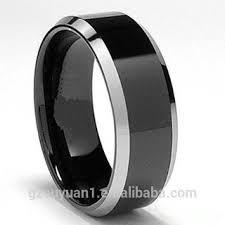 cincin tungsten carbide perak baru miring hitam cincin tungsten tungsten karbida cincin