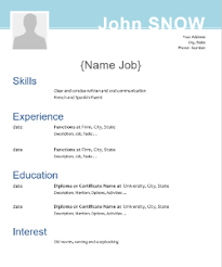 Libreoffice Resume Template 20 Free Cv Templates And Tips For Resume Writing