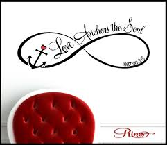 love anchors the soul wall decal vinyl sticker home decor