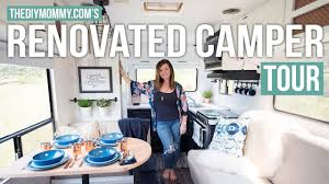 renovated rv tour our diy camper the diy mommy youtube