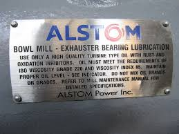 alstom ex 194 bowl mill exhaust fan bearing assembly rebuilt ebay
