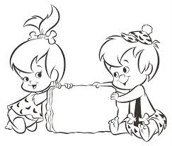 pebbles bam bam coloring pages disney cartoon