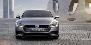 volkswagen black vw arteon four door coupe debuts bold new style tech news here