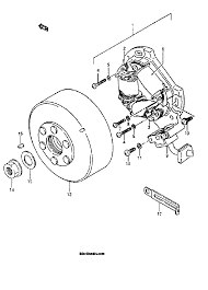 1991 suzuki lt250r quad racer magneto model h j k l m n parts