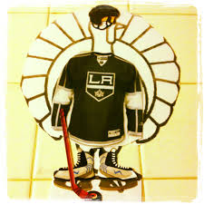 thanksgiving football turkey my son u0027s turkey he disguised as a la kings hockey player for a