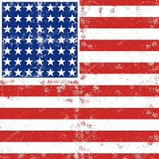 Red White Striped Flag Blue Red White Stripes And Stars Grunge Patterned American Flag