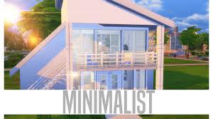 sims 4 minimalist house youtube