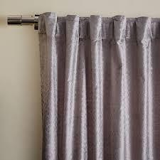 Grey Metallic Curtains Metallic Printed Velvet Curtain Silver West Elm