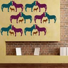 donkey silhouette wall sticker creative multi pack decal art