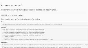 zf2 twig layout php zf2 gmail smtp not working stack overflow