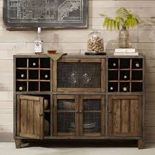 buffet sideboard cabinet storage kitchen hallway table industrial rustic thrift store shopping mall wine rack design wine