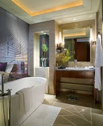 bathroom ideas ceiling lighting mirror awesome contemporary white porcelain free standing tub with wooden