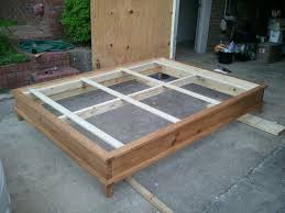 Platform Bed Frame Plans by Bed Frames Diy King Platform Bed Build A King Size Bed Frame Diy