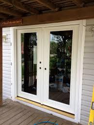 decorating elegant therma tru doors with beige doormat and beige