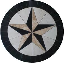 tile floor medallion marble mosaic cowboys design 32