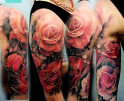 beautiful wave and flower tattoos on half sleeve in 2017