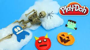 Ghost Halloween Crafts by Halloween Play Doh Ghost Pumpkin Frankenstein How To Make