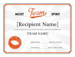 team spirit award certificate pinterest mini mall viral board